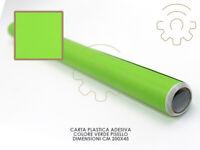 Carta plastica pellicola adesiva verde lime mt 2x45 cm per cassetti mobili