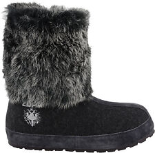 ZDAR Nikita R Charcoal Rabbit Fur Boots Size 6, 7, 8, 9, 10 Available- Brand New