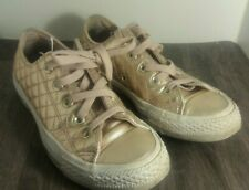 Details about Stunning Womens Shiny Converse Rose Gold Size UK 5 Eur 37.5