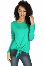 Magliette da donna verde viscosa taglia S