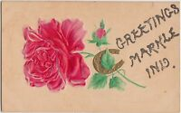 Indiana In Postcard c1910 Glitter Greetings from...MARKLE