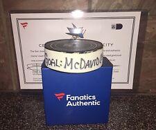 Connor McDavid Game Used 33rd Career Goal Puck MVP 100YR Edmonton Oilers Gretzky