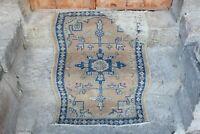 """FREE SHIPPING Vintage Handmade Turkish Oushak Anatolian Area Rug 4'2""""x2'7"""""""