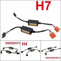 2X H7 Led Light Bulb Canbus Error Free Anti Flicker Resistor Canceller Decoder