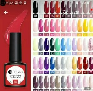 GEL NAIL POLISH  NEW COLOURS UR SUGAR 7.5ml  UV / LED  - UK SELLER