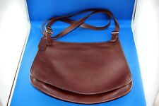 Coach Brown Leather Saddle Bag Purse with Straps & tag