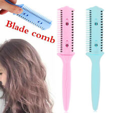 Portable Bangs Repair Comb Hair Trim Comb Hairdressing Styling Tool With Blade