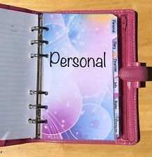 Filofax Personal Organiser Planner - Bubble Design Labelled Dividers - Laminated
