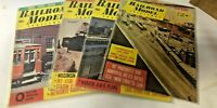 4 VINTAGE RAILROAD MODEL CRAFTSMAN TRAIN MAGAZINES FROM THE 1960'S