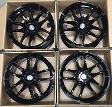 "18"" ESR SR08 Black Wheels 18X8.5 5x114.3 +30 For Honda Prelude Rims Set Of 4"