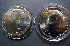 1972-P/D  Lot of 2  Vintage KENNEDY HALF DOLLARS, Philadelphia/Denver Mint Coins