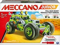 Meccano 6055133 Junior, 3-in-1 Deluxe Pull-Back Buggy STEAM Model Building Kit