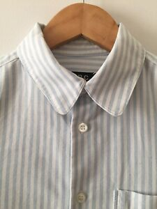 APC Blue & White Striped Cotton Shirt - Size 38