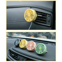 AU_ IC- KQ_ Electric Car Auto Air Vent Clip Outlet Fan Mini USB LED Light 7 Blad