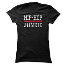 Womens tshirt Hip Hop Junkie Classic Golden Era Rap Music