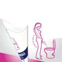 10Pcs/Bag Disposable Female Urinal Funnel Urination Device for Travel Campi_ws