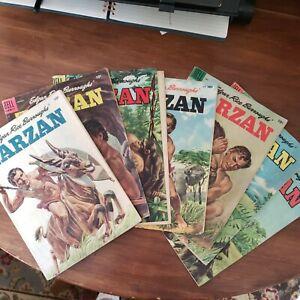 Tarzan 1955 lot 7 vintage Dell comic edgar rice Burroughs