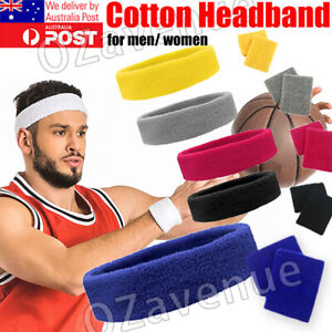 Cotton Headband Sweatbands Sweat Band Head Band for Tennis Badminton Sport Yoga