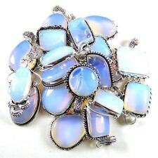 Opalite Gemstone 20 Pcs Wholesale Lots 925 Sterling Silver Plated Pendant