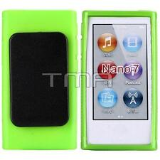 Hybrid TPU Rubber Gel Soft Case Cover Holster With Clip For iPod Nano 7 - Green