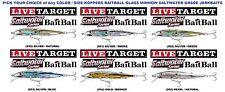 Koppers Live Target Baitball Glass Minnow Jerkbait GBB Saltwater Lures Any Color