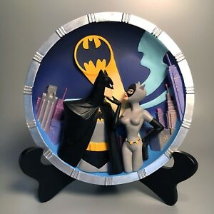 1997 Batman TAS 3rd Dimension Sculpture w/ Catwoman, Almost Got Him – WB Store