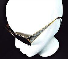 Laura Biagiotti Womens Sunglasses Vtg Italy Metal Frame Dual Goldtone Silvertone