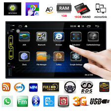 "7"" HD Android 6.0 2Din Car Stereo GPS Wifi 4G Radio RDS/AM/FM MP3 MP5 Player+Cam"