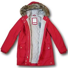 NWT Abercrombie&Fitch Women's Heritage Wool Parka XS M Red Classic Coat Quilted