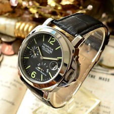 PARNIS MARINA MILITARE 44mm power reserve Automatic mens wrist watch From  Japan 7eb2c8423d1