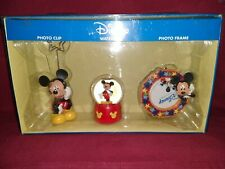 Disney Mickey Mouse Gift Set Includes Photo Clip, Waterball & Photo Frame New
