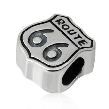Route 66 Charm Bead 925 Sterling Silver