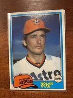 1981 Topps Nolan Ryan Houston Astros #240 Baseball Card Very good Condition
