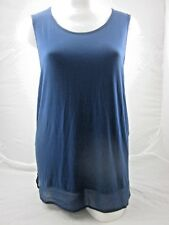 Avella Georgette Tank Plus Sizes 18 20 22 24 Womens Long Flowing Top Shirt 22 Navy Blue