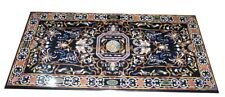 4'x2' Marble Dining Table Top Mosaic Inlay Handmade Art Living Room Decors B249