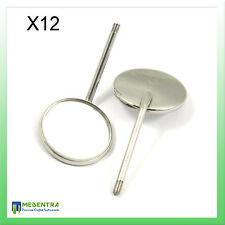 Bouche Examen Miroir Têtes Numéro 5 X 12 avec Poignée GRATUIT Diagnostic