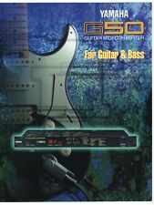 "Vintage Ad Sales Brochure: Yamaha ""Guitar Midi Converter G50"" For Guitar & Bass"