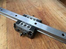 "Linear Motion Guide Rail w/ Bearing Slide Block 12"""
