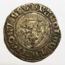 monnaie argent douzain Charles VI blanc dit guénar