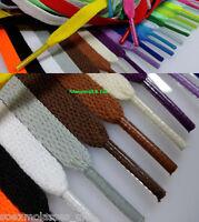 Coloured Flat Shoe Laces Pair Trainers Football Boot Shoelaces 130cm 29 Colours