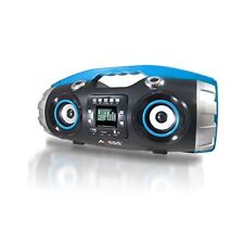 Axess Portable FM Radio CD/MP3/USB/SD Boombox Heavy Bass/Bluetooth PBBT2709BL