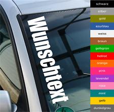 55cm Autoaufkleber WUNSCHTEXT Frontscheibenaufkleber Schriftzug Sticker Tuning