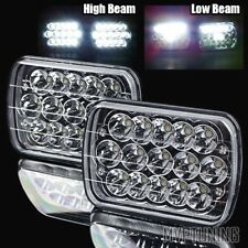 "7x6"" H6054 45W Epistar LED Chrome/Crystal Sealed Beam Headlights Lamps Assembly"