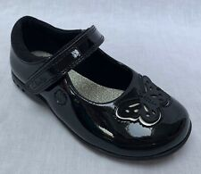 INFANT GIRLS CLARKS ANTHRACITE LEATHER FLOWER DETAIL LIGHT SHOES TRIXI WHIZZ