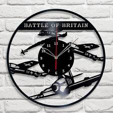 "Battle of Britain Vinyl Record Wall Clock Fan Art Home Decor 12"" 30cm A481"