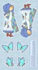 HOLLY HOBBIE DOLL AND BUTTERFLY FABRIC PANEL