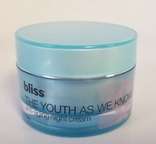 New Unboxed Bliss The Youth As We Know It anti-aging Moisture Cream  - 1.7 oz.
