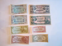 16 JAPANESE WWII CURRENCY NOTES - NICE -