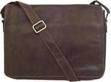 "Unicorn Vera Pelle Marrone 16,4 ""Laptop / Netbook Messenger Bag # 2L"