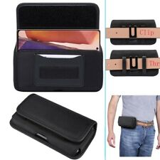 Universal Phone Case Flip Holster Belt Oxford Cloth Bag For Iphone 11 12 Pro Max